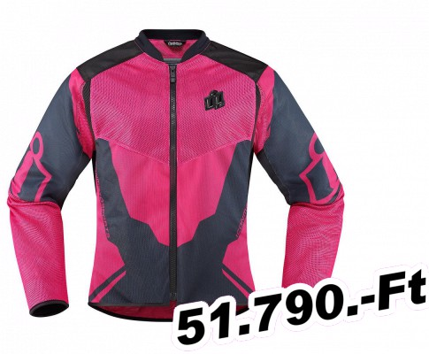 20a3c1f14a39 Női motoros kabát -textil ICON dzseki női himnusz 2 pink L - Motorosbolt