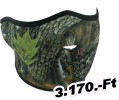 Zan headgear HALF MASK FOREST CAMO Maszk