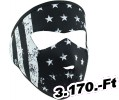 Zan headgear FULL MASK BLK/WHT FLAG SM Maszk