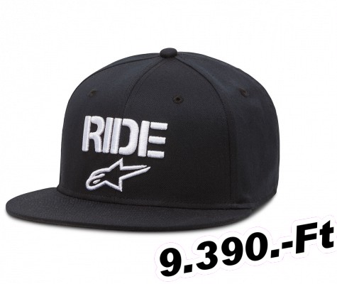 Baseballsapka ALPINESTARS (Off-Road) RIDE FLAT HAT fekete L/XL